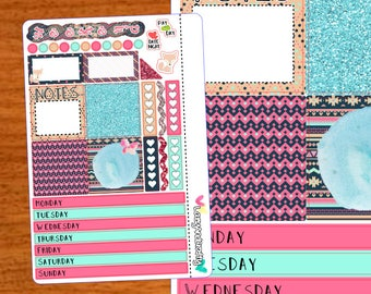 Pink Foxy Mini Kit - Weekly Mini Happy Planner Kit - Planner stickers for Mini Happy Planner, Filofax and more!