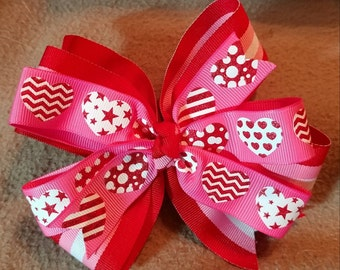 Custom boutique valentine hairbows