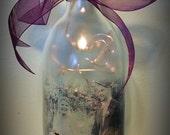 Custom Lighted Photo Wine Bottle