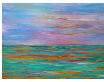 Ocean Painting, Fine Art, Art Prints, Abstract Art, Wall Art, Home Decor, Art Deco, Wall Decor, Gilcee Print