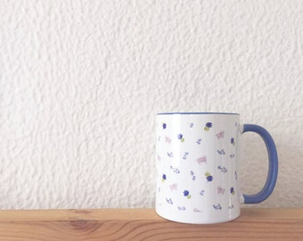 Goats and Pineapples Blue-Lined Ceramic Mug