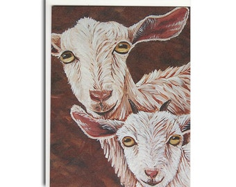 Goat and Kid Notecards - Goat Cards - Farm Animal Stationary