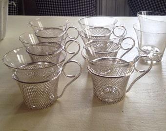 Glasses, vintage 60s, set of 6 pieces