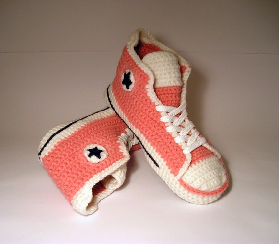 5aeb76e3302c 60%OFF CONVERSE SLIPPERS CROCHET Adult Wool Sneakers Indoor Shoes ...