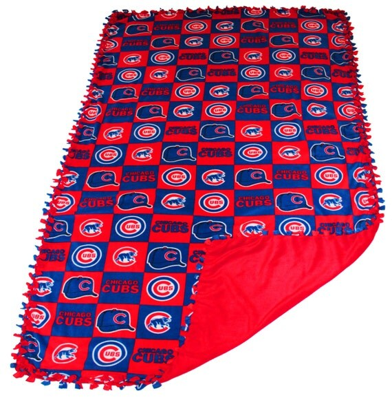 Chicago Cubs fleece, cubs blanket, chicago cubs plaid blanket, MLB no sew fleece, World Series Champs, Cubs weighted fleece blanket, plaid