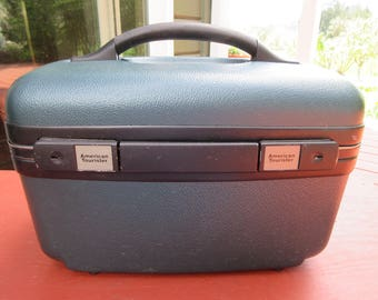 Vintage American Tourister Train Make-up Case Overnight Luggage