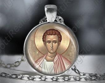 St. Philip Catholic Christian Necklace 1 inch Medal Pendant Patron Saint Religious Jewelry