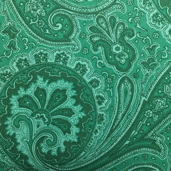 Green Paisley Fold Over Clutch / Cross Body