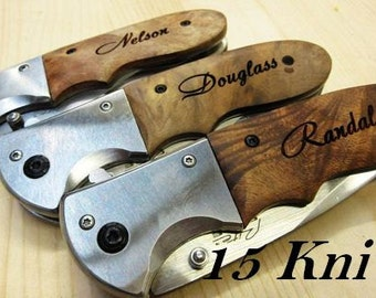 Fifteen Personalized Knife Engrave Pocket Knife Groomsmen Knife Groomsmen Gift Knife Engrave Knife Personalized Pocket Knife Groomsmen Knife