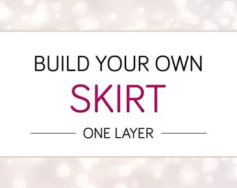 Build Your Own Cheeky Skirt, One Layer, Custom Rave Skirt, Custom Bottom, Custom Rave Bottom