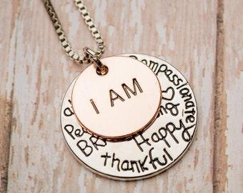 I Am Positive Affirmation Necklace