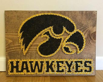 Iowa Hawkeyes String Art