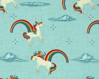 Riley Blake Designs Unicorns and Rainbows in Blue