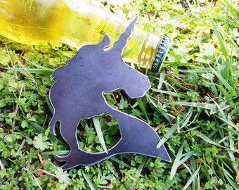 Unicorn Metal Bottle Opener Mystical Fantasy Recycled Industrial Steel Host gift wedding favor bridesmaid gift for her made by BE Creations