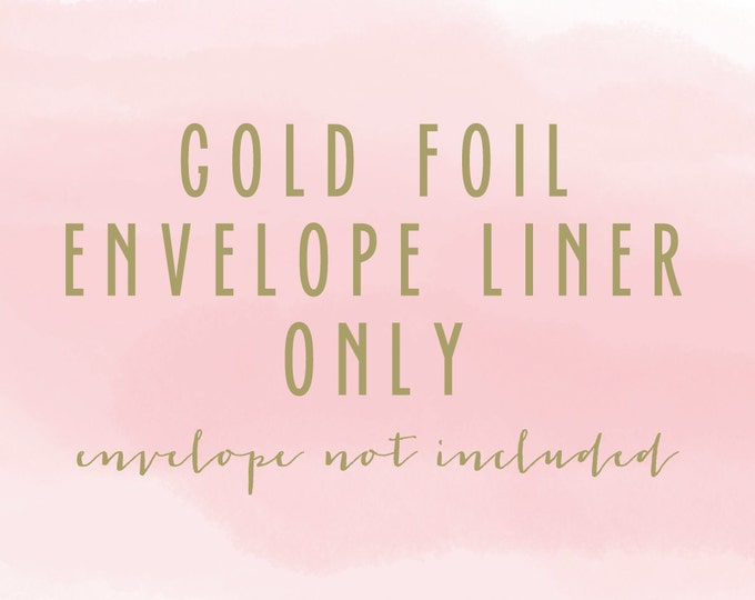 gold foil envelope liner only (envelope not included) - set of 10