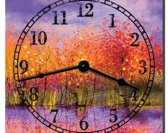 Autumn Sunset Decorative Kitchen Clock