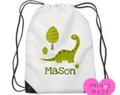Personalised dinosaur / swim bag /  pump bag /  gym bag / school bag / PE bag / kids / children / Ballerina