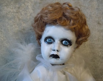 Reserved for Cindy - Sad Angel  Creepy Doll  #21 Dark Art  Horror Collectible Day of the Dollies