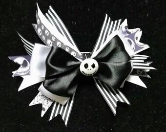 Jack inspired hair bow