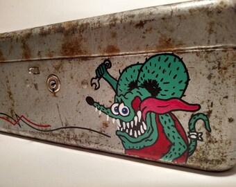 Rat Fink Pinstriped Painted Toolbox Kustom Kulture Rockabilly