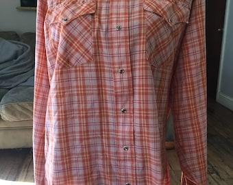 Vintage Panhandle Slim pearl snap shirt