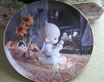 Precious Moments Decorative Plate I Believe in Miracles The Hamilton Collection 1994 #4061C