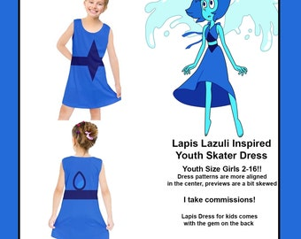 Youth Lapis Steven Universe inspired dress