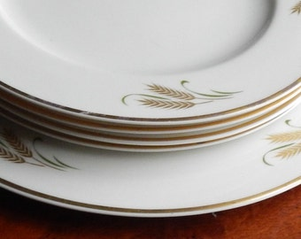 Handsome German Porcelain Dessert Plate Set!