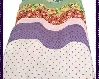 Baby Burp Cloth, Baby Burp Pad, Flannel & Fleece, Pick your Color and Quantity