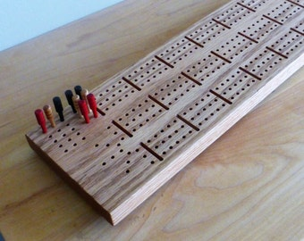 Red Oak Cribbage Board