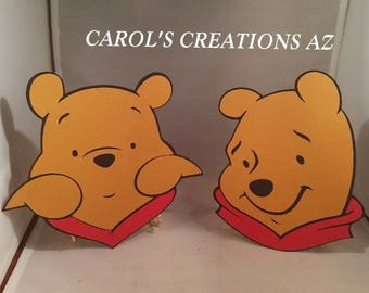"""2 Large 7 1/2"""" Winnie The Pooh Die Cuts / Pooh Props / Pooh Back Drops / Winnie The Pooh Party Decor / Winnie The Pooh Party / ANY COMBO"""