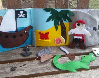Pirate Felt Fold-Up Mini Quiet Book