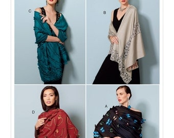 Vogue Pattern V9249 Embellished Wraps in Four Styles