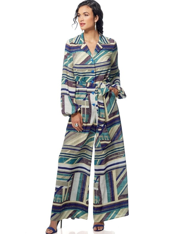 7e013b7d1a7e Vogue Pattern V9245 Misses  Petite Button-Up Jumpsuits and Sash from ...