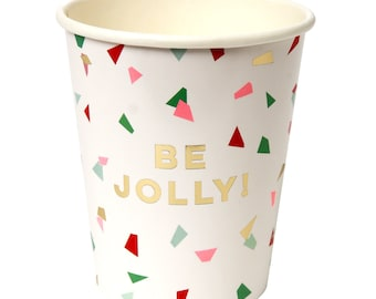 Confetti Be Jolly Cups