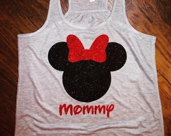 Disney Mommy Tank Glitter HTV