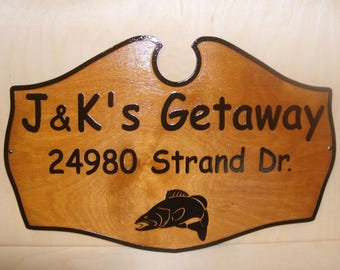 Personalized STREET HOUSE Number last name Wood sign.Any text.Laser engraved.