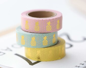 Gold Foil Pineapple Washi Tape