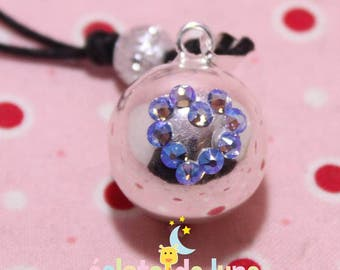 Swarovski sapphire blue AB heart pregnancy's Bola