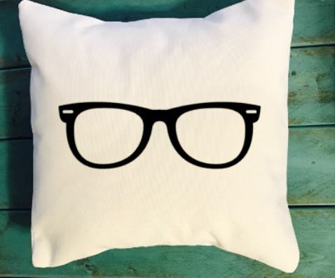 Hipster glasses throw pillow Dorm Room throw pillows dorm room decor