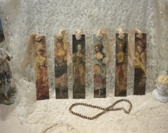 Victorian Women Bookmarks / Tags (6)