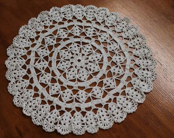 New Hand Crocheted Doily white doily