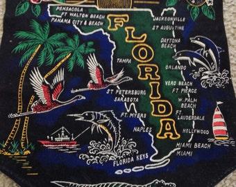 Ready to Hang Souvenir Black Velvet Florida Banner