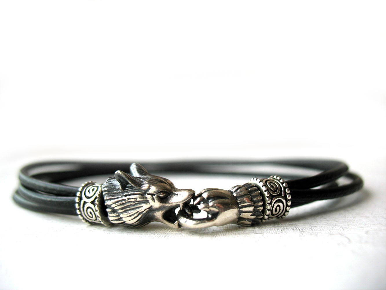 Wolf Bracelet, Gift For Him, Cool Men Bracelet, Cherokee Jewelry, Viking  Wolf