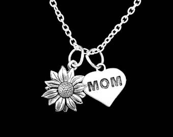 Mom Gift, Daisy Flower Necklace, Mother Necklace, Mom Necklace, Mother's Day Gift, Nature Necklace, Flower Necklace