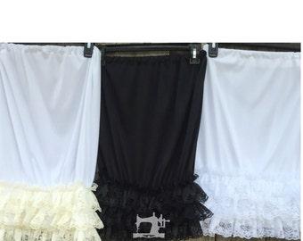Modest Ruffled or lace Skirt extender slip