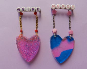 Broche little heart that dangles
