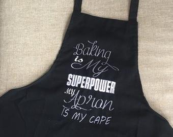 Superhero Apron / Embroidered apron / Customization avaliable