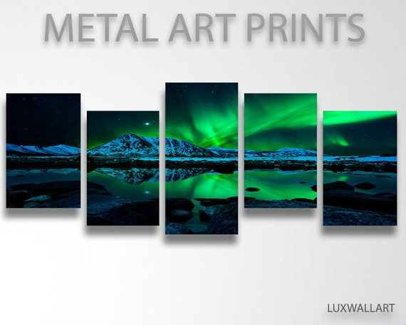 Northern lights wall art on metal - Add spark wall art picture lights ...