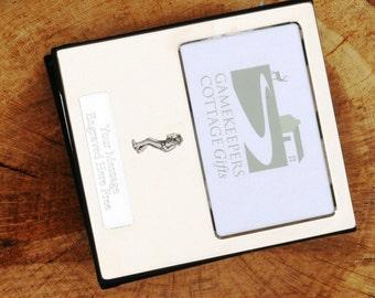 Cowboy Design Silver Personalised Photo Album FREE ENGRAVING pewter emblem holds 100 6x4 photos